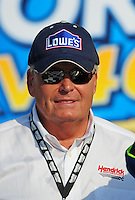Sept. 28, 2008; Kansas City, KS, USA; Nascar Sprint Cup Series team owner Rick Hendrick after winning the Camping World RV 400 at Kansas Speedway. Mandatory Credit: Mark J. Rebilas-