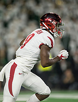 NWA Democrat-Gazette/BEN GOFF @NWABENGOFF<br /> De'Vion Warren returns a kick for Arkansas in the 4th quarter vs Colorado State Saturday, Sept. 8, 2018, at Canvas Stadium in Fort Collins, Colo.