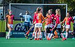Laren -Valerie Magis (OR) heeft de stand op 0-1 gebracht tijdens de Livera hoofdklasse  hockeywedstrijd dames, Laren-Oranje Rood (1-3).    COPYRIGHT KOEN SUYK