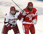 Abbey Frazer (Harvard - 28), Maddie Elia (BU - 14) - The Harvard University Crimson tied the Boston University Terriers 6-6 on Monday, February 7, 2017, in the Beanpot consolation game at Matthews Arena in Boston, Massachusetts.