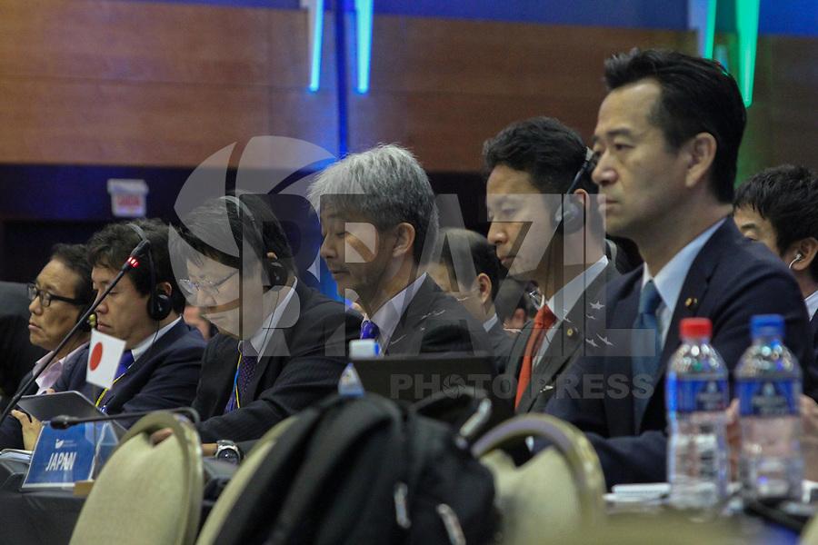 FLORIANÓPOLIS, SC, 14.09.2018 - IWC-SC - delegaçao do japao na 67ª reunião anual de Membros da IWC (International Whaling Commission) em Florianópolis nesta Sexta-feira 14.  (Foto: Naian Meneghetti/Brazil Photo Press)