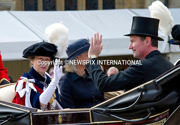 "PRINCESS ANNE, TIM LAURENCE AND DUCHESS OF GLOUCESTER, GARTER SERVICE.Kate joined husband Prince William and other members of the Royal Family for the 1st Garter Service at Windsor Castle, Windsor_13/06/2011.Mandatory Photo Credit: ©NEWSPIX INTERNATIONAL..**ALL FEES PAYABLE TO: ""NEWSPIX INTERNATIONAL""**..PHOTO CREDIT MANDATORY!!: NEWSPIX INTERNATIONAL(Failure to credit will incur a surcharge of 100% of reproduction fees)..IMMEDIATE CONFIRMATION OF USAGE REQUIRED:.Newspix International, 31 Chinnery Hill, Bishop's Stortford, ENGLAND CM23 3PS.Tel:+441279 324672  ; Fax: +441279656877.Mobile:  0777568 1153.e-mail: info@newspixinternational.co.uk"
