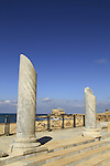 The Roman bathhouse complex in Caesarea National Park on Israel's central Mediterranean coast
