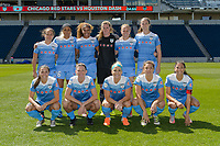 Bridgeview, IL - Saturday May 06, 2017: Chicago Red Stars Starting XI during a regular season National Women's Soccer League (NWSL) match between the Chicago Red Stars and the Houston Dash at Toyota Park.