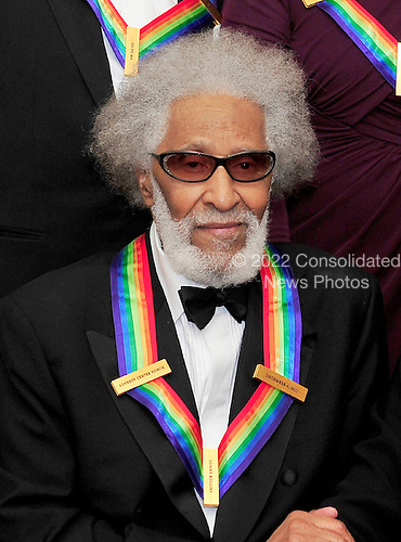 Sonny Rollins, one of the recipients of the 2011 Kennedy Center Honors, poses for a photo following a dinner hosted by United States Secretary of State Hillary Rodham Clinton at the U.S. Department of State in Washington, D.C. on Saturday, December 3, 2011. The 2011 honorees are actress Meryl Streep, singer Neil Diamond, actress Barbara Cook, musician Yo-Yo Ma, and musician Sonny Rollins..Credit: Ron Sachs / CNP