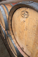 barrel with stamp claude gillet dom g amiot & f chassagne-montrachet cote de beaune burgundy france