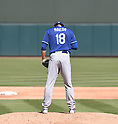 Kenta Maeda (Dodgers),<br /> MARCH 10, 2016 - MLB :<br /> Pitcher Kenta Maeda of the Los Angeles Dodgers prays on the mound before delivering in the second inning during a spring training baseball game against the Oakland Athletics at Hohokam Stadium in Mesa, Arizona, United States. (Photo by AFLO)
