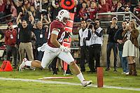 STANFORD, CA - November 15, 2014: The Stanford Cardinal vs Utah Utes game at Stanford Stadium in Stanford, California. Final score, Stanford Cardinal 17, Oregon State Beavers 20 (2OT)