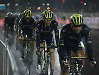 PICTURE BY MARK GREEN/SWPIX.COM ATP  Tour of Abu Dhabi - Yas Island Stage, UAE, 26/02/17<br /> Team Orica Scott in the rain