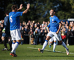 Kal Naismith celebrates his goal