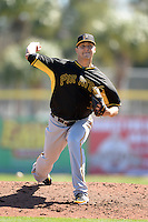 Pitcher Jameson Taillon (76) of the Pittsburgh Pirates during a spring training game against the Toronto Blue Jays on February 28, 2014 at Florida Auto Exchange Stadium in Dunedin, Florida.  Toronto defeated Pittsburgh 4-2.  (Mike Janes/Four Seam Images)