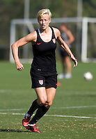 Megan Rapinoe. The USWNT practice at WakeMed Soccer Park in preparation for their game with Japan.