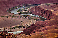 The Unkar Rapids on the Colorado River in the Grand Canyon, as seen from Lapin Point