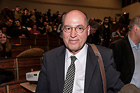 """ROME, ITALY - MARCH 23:  Gregor Gisy President of the Party of the European Left participated in the meeting """"Transform Europe"""",  which was held to University La Sapienza. In the courtroom to hear the greek prime minister many militants of the radical left, from different parties, and associations on March 23, 2017 in Rome;Italy."""