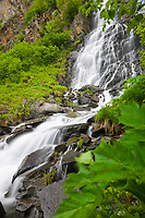 Horsetail waterfalls, Keystone canyon, Valdez, Alaska.