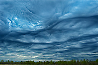 Asperitas clouds  (formerly known as Undulatus asperatus) over Lake Superior<br />