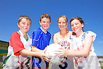 Seán Tracey, Seán Nagle, Andrea Quirke and Rebekah Crean having fun at the Castlegregory Cúl Camps last week.