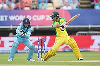 Glenn Maxwell (Australia) cuts through point during Australia vs England, ICC World Cup Semi-Final Cricket at Edgbaston Stadium on 11th July 2019