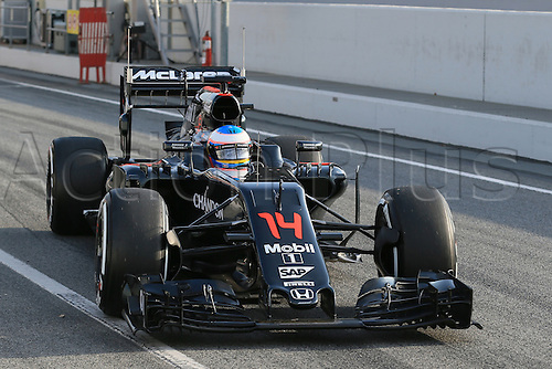 25.02.2016. Circuit de Catalunya, Barcelona, Spain. Day 4 of the Spring F1 testing and new car unvieling for 2016-17 season.  McLaren Honda MP4-31 – Fernando Alonso