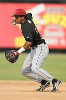 Greeneville Astros second baseman Reinaldo Ramirez during infield practice prior to taking on the Danville Braves at American Legion Field in Danville, VA, Saturday, July 1, 2006.