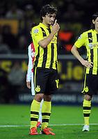 FUSSBALL   CHAMPIONS LEAGUE   SAISON 2012/2013   GRUPPENPHASE   Borussia Dortmund - Ajax Amsterdam                            18.09.2012 Mats Hummels (Borussia Dortmund) ist enttaeuscht