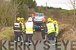The scene of the crash in Rossanean Currow on Saturday afternoon where a Skoda car with a bank before landing on its roof