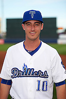 Tulsa Drillers Cody Bellinger (10) poses for a photo before a game against the Arkansas Travelers on April 28, 2016 at ONEOK Field in Tulsa, Oklahoma.  Tulsa defeated Arkansas 5-4.  (Mike Janes/Four Seam Images)