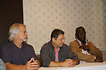 Michael Beck, Terry Michos, Dorsey Wright - The Warriors - 30 years reunion during Q & A at the Super Megashow & Comic Fest on August 30, 2009 in Secaucus, New Jersey (Photo by Sue Coflin/Max Photos)
