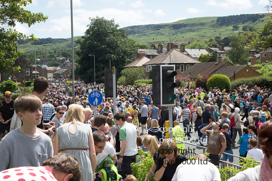 Grand Depart - Tour de France 2014<br /> Yorkshire England.<br /> Crowds go home<br /> <br /> Pic by Gavin Rodgers/Pixel 8000 Ltd