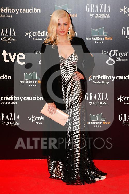 Actress Miriam Giovanelli attends Goya Cinema Awards 2014 red carpet at Centro de Congresos Principe Felipe on February 9, 2014 in Madrid, Spain. (ALTERPHOTOS/Victor Blanco)