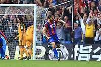 Andros Townsend  of Crystal Palace celebrates the second goal during Crystal Palace vs Brighton & Hove Albion, Premier League Football at Selhurst Park on 14th April 2018