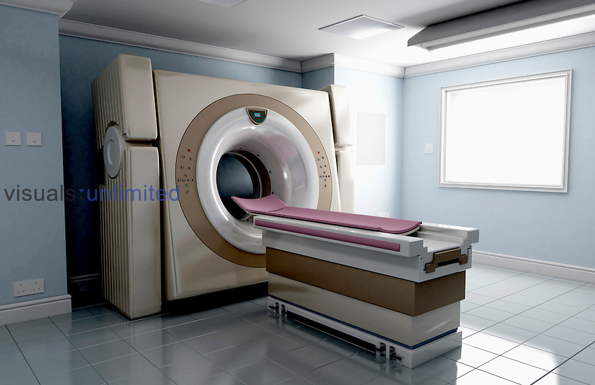 A CT (computerized tomography) scanner room. Royalty Free