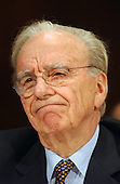 """News Corporation Chairman and CEO Rupert Murdoch testifies before the United States Senate Committee on the Judiciary Subcommittee on Antitrust, Competition, and Business and Consumer Rights on """"The NewsCorp/Direct TV Deal: The Marriage of Content and Global Distribution"""" in Washington, DC on June 18, 2003....."""