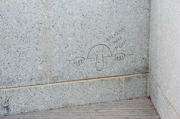 Kilroy was Here, World War II Memorial, National Mall, Washington DC