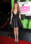 Bella Thorne attends The Weinstein Company L.A. Premiere of Vampire Academy held at The Premiere House at Regal Cinemas L.A. Live Stadium 14 in Los Angeles, California on February 04,2014                                                                               © 2014 Hollywood Press Agency