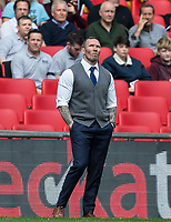 Oxford United Manager Michael Appleton during the The Checkatrade Trophy / EFL Trophy FINAL match between Oxford United and Coventry City at Wembley Stadium, London, England on 2 April 2017. Photo by Andy Rowland.