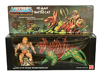 BNPS.co.uk (01202 558833)<br /> Pic: Vectis/BNPS<br /> <br /> PICTURED: Man Masters of the Universe He-Man and Battle Cat pack sold for a massive £1,920<br /> <br /> One man's epic collection of retro eighties' toys has been sold for £220,000 by his family following his death.<br /> <br /> Dr Cornel Flemming amassed more than 1,600 toy action figures and cars for franchises like Star Wars, He-Man and Transformers. <br /> <br /> The market for nostalgic toys is booming at the moment which is reflected in the prices some of the toys achieved.<br /> <br /> An unopened pack of three He-Man figures featuring He-Man, Teela and Ram Man made by Mettel sold for an incredible £12,000.