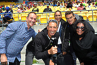 The Sky team on day two of the 2017 HSBC World Sevens Series Wellington at Westpac Stadium in Wellington, New Zealand on Sunday, 29 January 2017. Photo: Dave Lintott / lintottphoto.co.nz