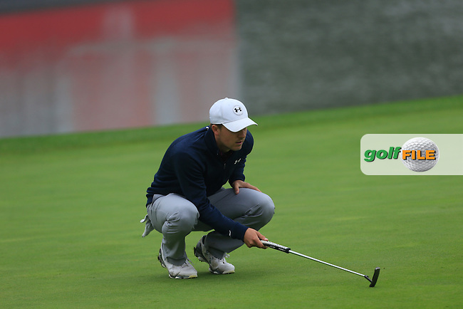 Jordan Spieth (USA) on the 18th green during Round 4 of the WGC HSBC Champions at the Sheshan International Golf Club in Sheshan, Shanghai, China on Sunday 13/09/15.<br /> Picture: Thos Caffrey | Golffile