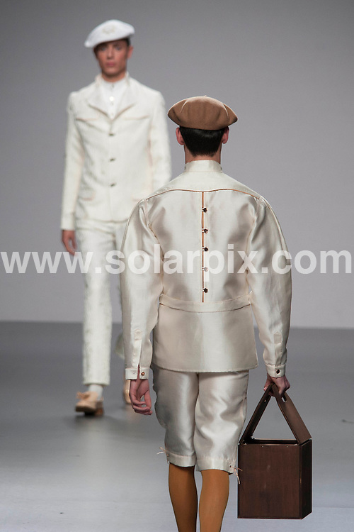 **ALL ROUND PICTURES FROM SOLARPIX.COM**                                             **WORLDWIDE SYNDICATION RIGHTS EXCEPT SPAIN - NO SYNDICATION IN SPAIN**                                                                                  05/02/2011. Madrid.Spain. MBFWM. Mercedes Benz Fashion week Madrid. Ixone Elzo show                                                              .This pic:   Ixone Elzo show                                                                                   JOB REF:  14441     DMS Dolores       DATE: 05.02.12                                                           **MUST CREDIT SOLARPIX.COM OR DOUBLE FEE WILL BE CHARGED**                                                                      **MUST AGREE FEE BEFORE ONLINE USAGE**                               **CALL US ON: +34 952 811 768 or LOW RATE FROM UK 0844 617 7637**