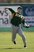 February 21, 2010:  Outfielder Mike Fish (7) of the Siena Saints during a game at Melching Field at Conrad Park in DeLand, FL.  Siena lost to Stetson by the score of 8-7.  Photo By Mike Janes/Four Seam Images