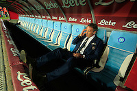 Sinisa Mihajlovic   before  the Italian Serie A soccer match between   SSC Napoli and UC Sampdoria at San Paolo  Stadium in Naples ,April 26 , 2015