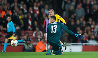 Antoine Griezmann of Atletico Madrid goes past Goalkeeper David Ospina of Arsenal before scoring his goal during the UEFA Europa League Semi Final 1st leg match between Arsenal and Atletico Madrid at the Emirates Stadium, London, England on 26 April 2018. Photo by Andy Aleksiejczuk / PRiME Media Images