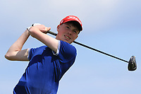 Liam Power (Galway) on the 10th tee during Round 4 of The East of Ireland Amateur Open Championship in Co. Louth Golf Club, Baltray on Monday 3rd June 2019.<br /> <br /> Picture:  Thos Caffrey / www.golffile.ie<br /> <br /> All photos usage must carry mandatory copyright credit (© Golffile | Thos Caffrey)