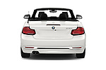 Straight rear view of a 2018 BMW 2 Series 230i Sport Line 2 Door Convertible stock images