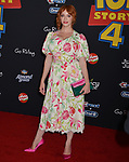 "Christina Hendricks 044 arrives at the premiere of Disney and Pixar's ""Toy Story 4"" on June 11, 2019 in Los Angeles, California."