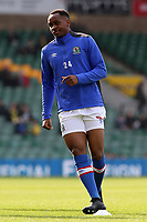 Blackburn Rovers' Ryan Nyambe during the pre-match warm-up <br /> <br /> Photographer David Shipman/CameraSport<br /> <br /> The EFL Sky Bet Championship - Norwich City v Blackburn Rovers - Saturday 11th March 2017 - Carrow Road - Norwich<br /> <br /> World Copyright &copy; 2017 CameraSport. All rights reserved. 43 Linden Ave. Countesthorpe. Leicester. England. LE8 5PG - Tel: +44 (0) 116 277 4147 - admin@camerasport.com - www.camerasport.com