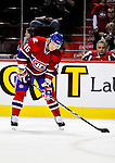 31 March 2010: Montreal Canadiens' left wing forward Andrei Kostitsyn warms up prior to a game against the Carolina Hurricanes at the Bell Centre in Montreal, Quebec, Canada. The Hurricanes defeated the Canadiens 2-1. Mandatory Credit: Ed Wolfstein Photo