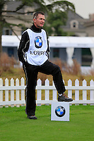 Dermot Byrne at the 1st tee during Wednesday's Pro-Am Day of the 2014 BMW Masters held at Lake Malaren, Shanghai, China 29th October 2014.<br /> Picture: Eoin Clarke www.golffile.ie