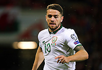 Robbie Brady of Ireland in action during the FIFA World Cup Qualifier Group D match between Wales and Republic of Ireland at The Cardiff City Stadium, Wales, UK. Monday 09 October 2017